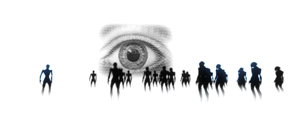 """In der """"Kirche des beobachtenden Wiedersehens"""" beten menschenähnliche Wesen ein riesiges Auge an. / Quelle: Outlands Games"""