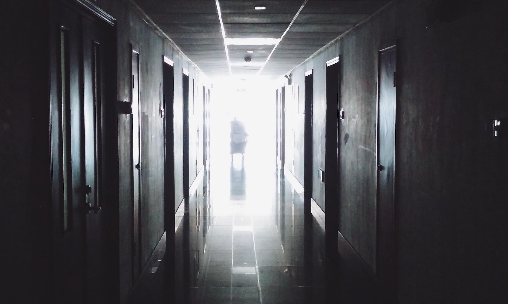 Gang in einem Krankenhaus